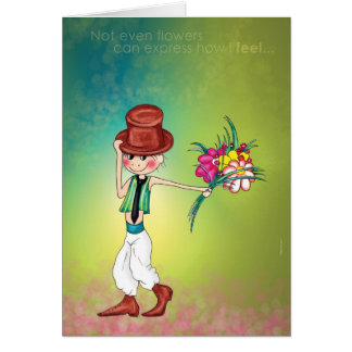 Note even flowers card