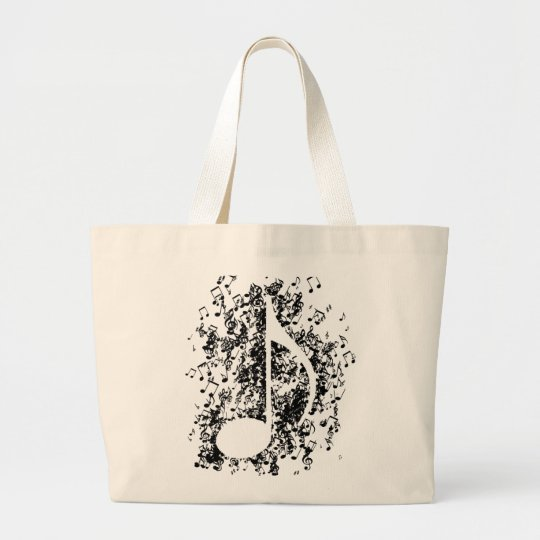 Note Explosion Large Tote Bag