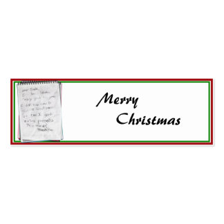 Note for Santa Business Card