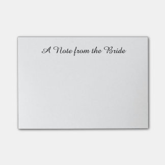 """""""Note from the Bride"""" Post-its Post-it Notes"""