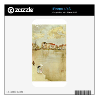 Note in Gold and Silver - Dordrecht by James Skin For iPhone 4S