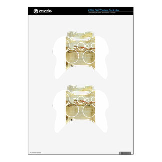 Note in Gold and Silver - Dordrecht by James Xbox 360 Controller Decal