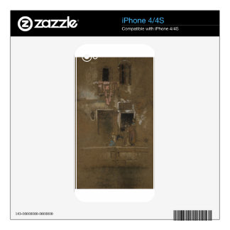 Note in Pink and Brown by James McNeill Whistler iPhone 4S Skins