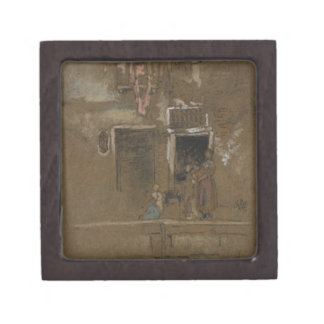Note in Pink and Brown by James McNeill Whistler Jewelry Box
