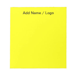 Note-is-Me Bold Yellow Notepad