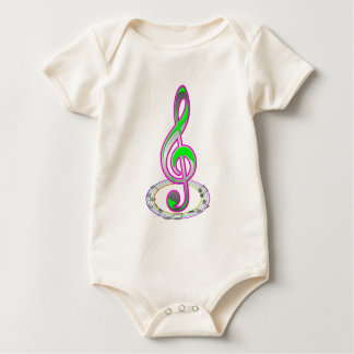 Note music baby bodysuit