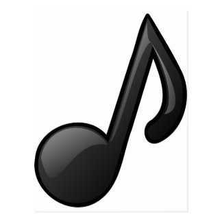 note music symbol postcard