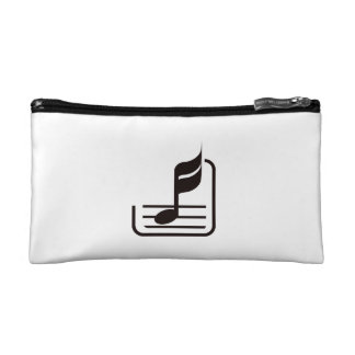 note n staff black abstract.png cosmetic bag