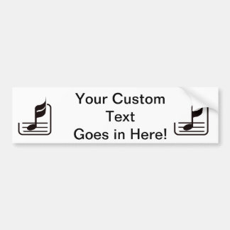note n staff black abstract.png bumper sticker