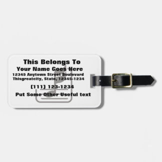 note n staff black abstract.png luggage tag