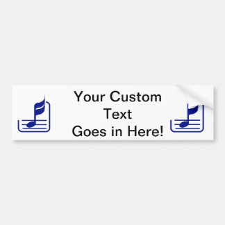 note n staff blue abstract.png bumper sticker