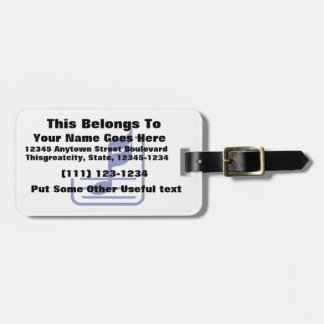 note n staff blue abstract.png luggage tag