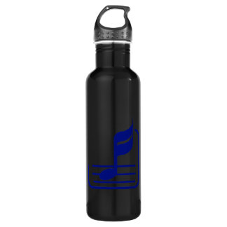 note n staff blue abstract.png stainless steel water bottle