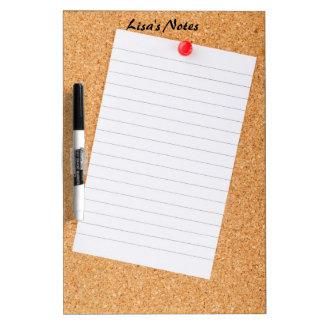 Note on a Cork Board Dry Erase Board