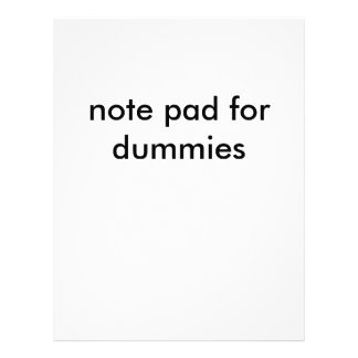 note pad for dummies letterhead
