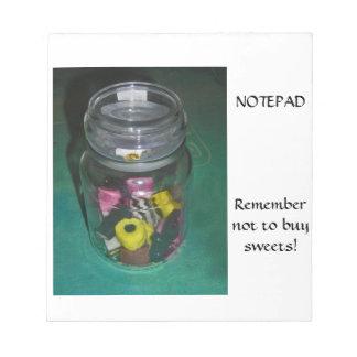 Note Pad - Jar of Sweets