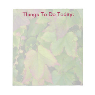 Note Pad--Leaves To Do
