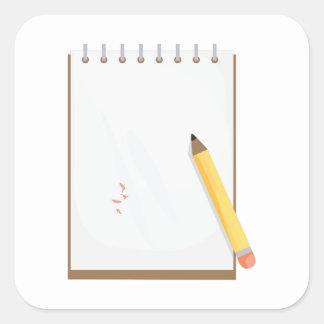 Note Pad Square Sticker