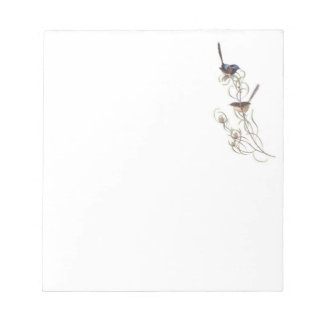 Note Pad with Blue Wrens