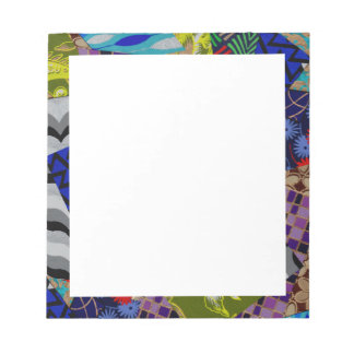 Note Pad with Colorful Collage Design