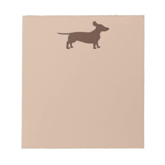 Note Pad with Dachshund Header
