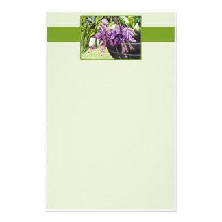 "Note Paper - Fuchsia ""Lisa"" basket of flowers #2"