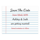 Note Paper Save The Date Post Cards