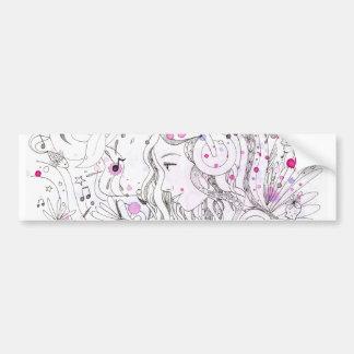 Note pop - watercolour splash bumper sticker
