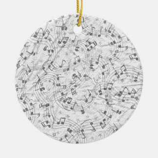 Note Swirl Ceramic Ornament