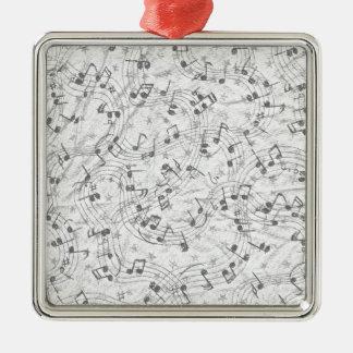 Note Swirl Metal Ornament