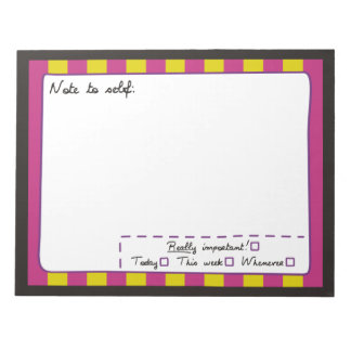 Note to Self Notepads