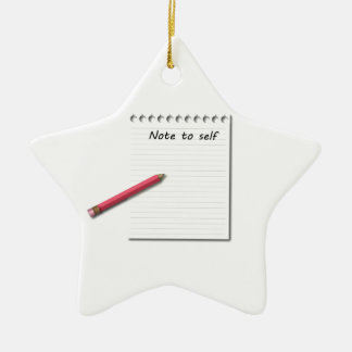 Note to Self paper and pencil Ornament
