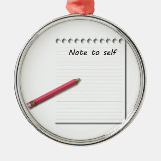 Note to Self paper and pencil Christmas Tree Ornaments