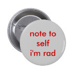 note to self pinback button