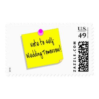 Note To Self Wedding Tomorrow Stamp