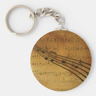 Note vintage style keychain