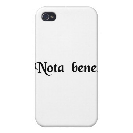 Note well. iPhone 4 cover
