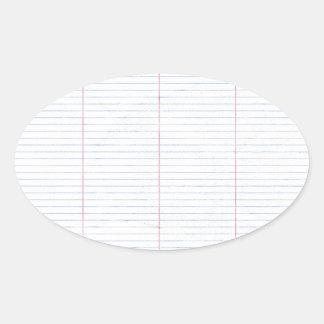 notebook04 NOTEBOOK TABLE GRID LINES SCHOOL EDUCAT Oval Sticker