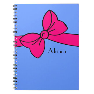 notebook_#230 large tied bow notebook