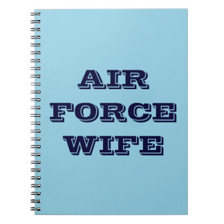 Notebook Air Force Wife