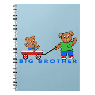 Notebook Big Brother Boy Bears in Wagon