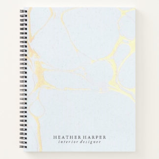 Notebook - Blue & Gold Marble