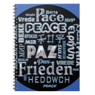 Notebook chrome text peace multi languages