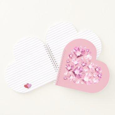 Hawaiian Themed Notebook-Crystal Hearts Notebook