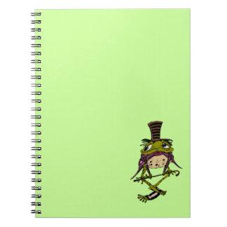 Notebook Dapper Frog Top Hat Dancer To Customize