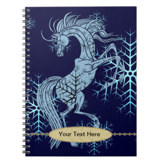 Notebook - Decorative Snowflake Horse