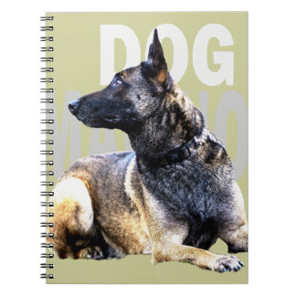Notebook dog malinois