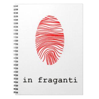 Notebook fingerprint huella digital libretas