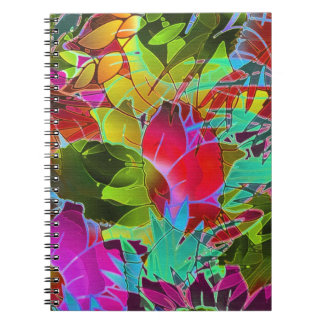 Notebook Floral Abstract Artwork