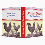 Notebook for Poultry, Free Range Chickens Farm Binder